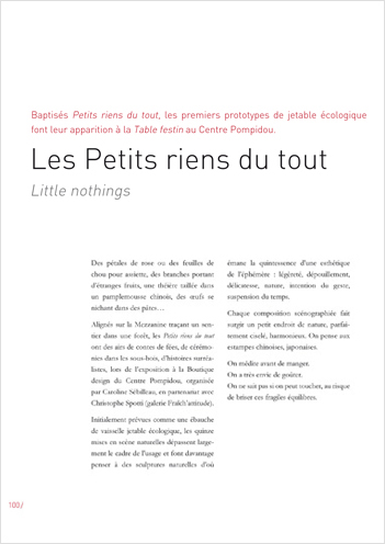 Petits riens... & nothing more